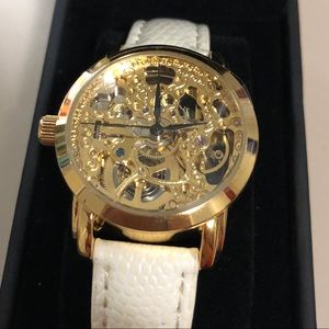 Accessories - Gold over Stainless Steel Automatic Skeleton Watch
